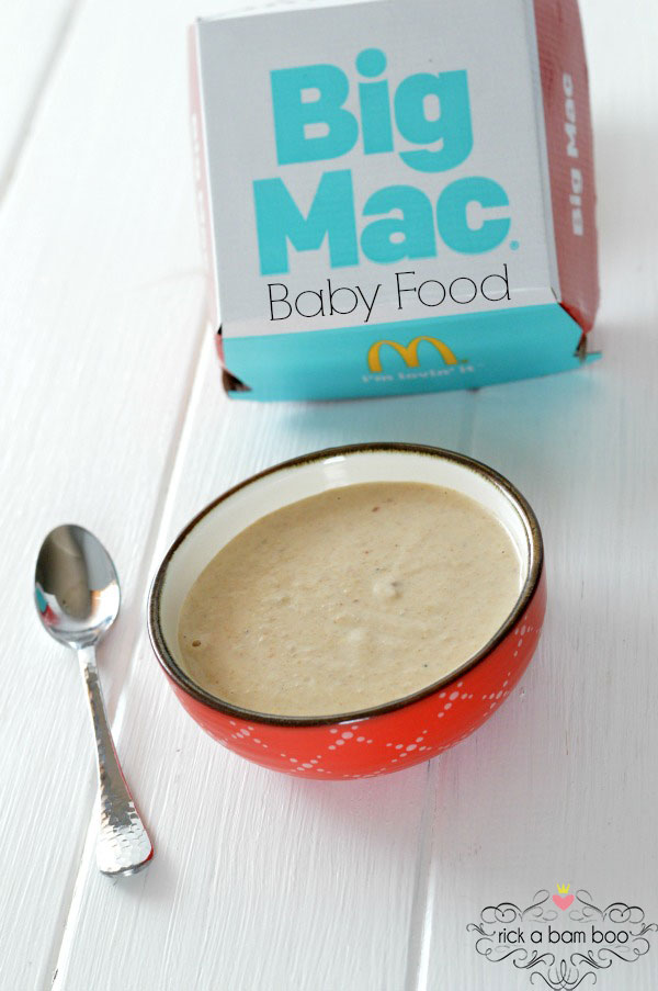 Big Mac Baby Food Recipe