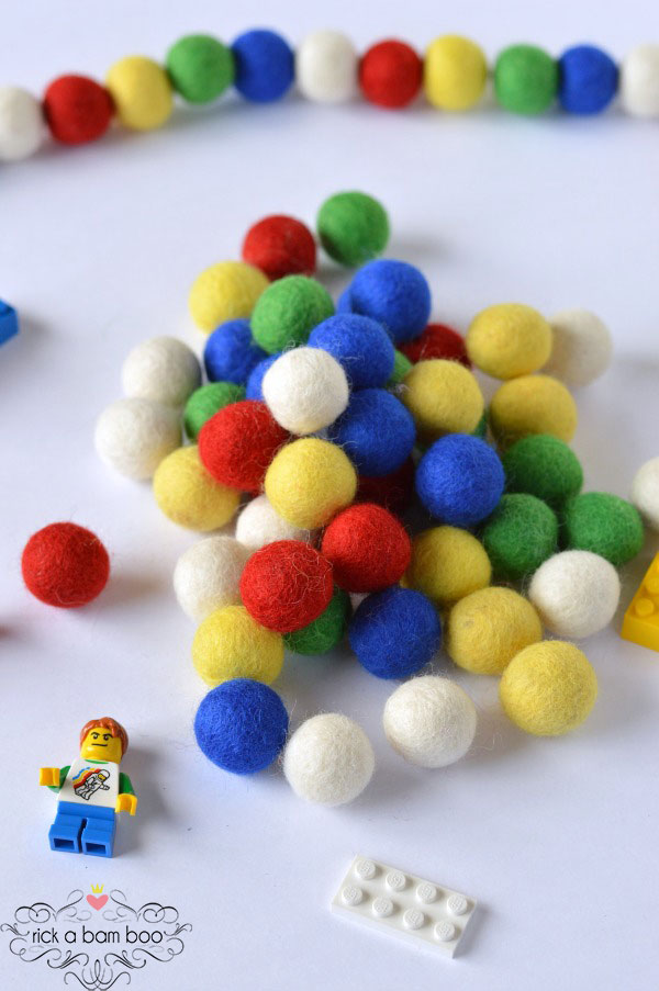 Building Bricks Felted Wool Balls | rickabamboo.com
