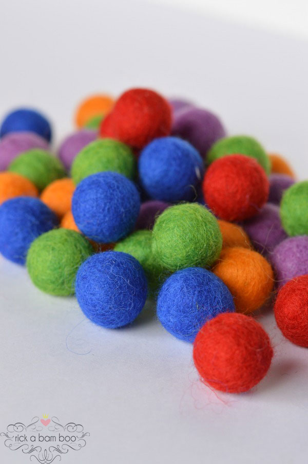 Turtle Power Felted Wool Balls | rickabamboo.com