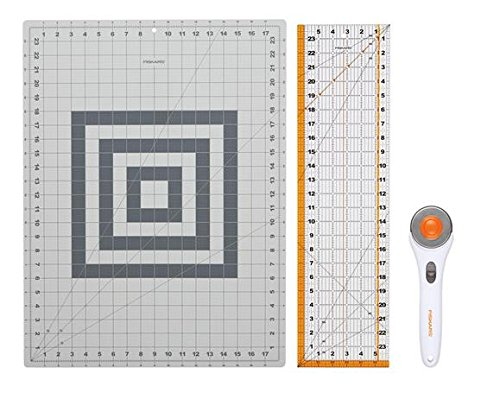 No sewing room would be complete without a rotary cutter and mat. These are a MUST if you do any quilting. Or even if you just buy yardage of fabric to cut into smaller pieces. I like the big 24 x 36 inch mat for cutting yardage because I can cut a whole strip, selvages to fold, in one cut.