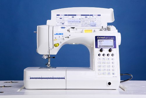 I really want to get a new machine. After doing some research I really like the Juki Exceed F600. It has a bunch of different stitches, stadium LED lighting, it's great for free motion quilting and it comes with the extender table.