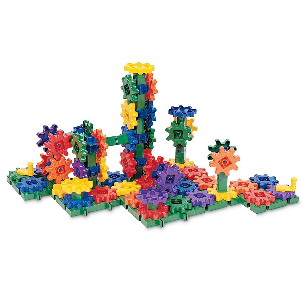 Learning Gears STEM Toys  Toddler Holiday Gift Guide   Amber Simmons   These gears are great for learning cause and effect as well as building.