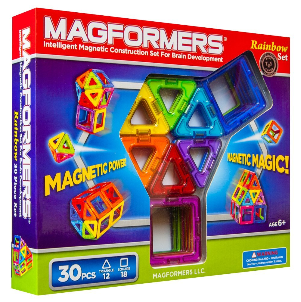 Magformers | STEM toys | Toddler Holiday Gift Guide | Amber Simmons | Magformers teach spacial reasoning as well as 3D building and magnets.