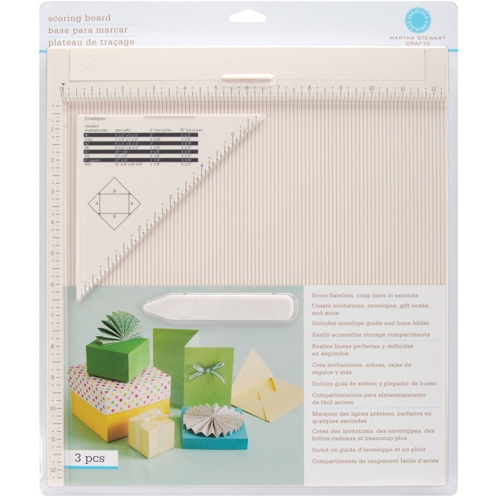 If you do paper crafts then you probably also want a good scoring board. I have this Martha Stewart Scoring Board and it is great. You can easily score any increment and the scoring tool stores inside the board.