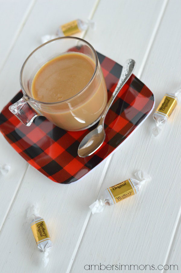 Copycat Caramel Kiss Recipe | ambersimmons.com | This recipe is from Epcot's Germany in Disney World. It is basically a sipping caramel and it is so easy to make. Just two ingredients you can get anywhere.