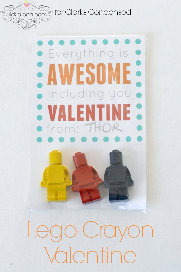 Lego Crayon Valentine
