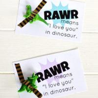 Rawr Means I Love You Printable Dinosaur Valentine