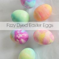 Fizzy Tie Dye Easter Eggs