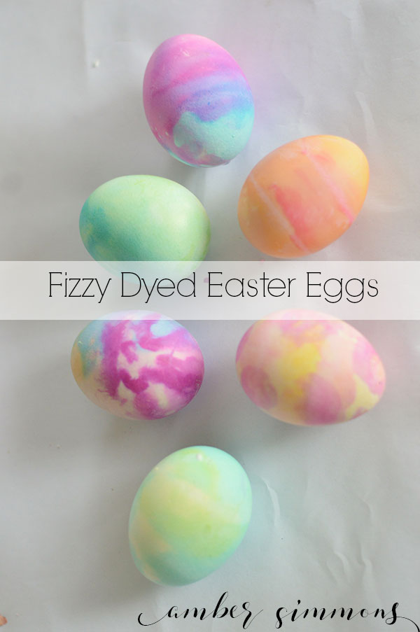 Use baking soda and vinegar to create fun fizzy dyed Easter eggs.