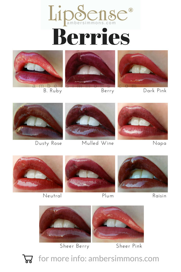 LipSense Berry Color Chart | ambersimmons.com Do you see your new favorite color? Click on over to ambersimmons.com and find out how you can order it today!