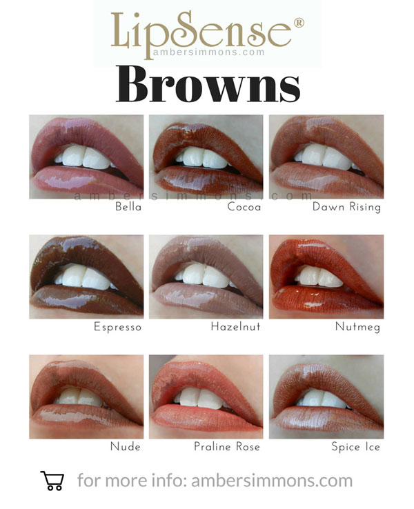 LipSense Browns Color Chart | ambersimmons.com Do you see your new favorite color? Click on over to ambersimmons.com and find out how you can order it today!