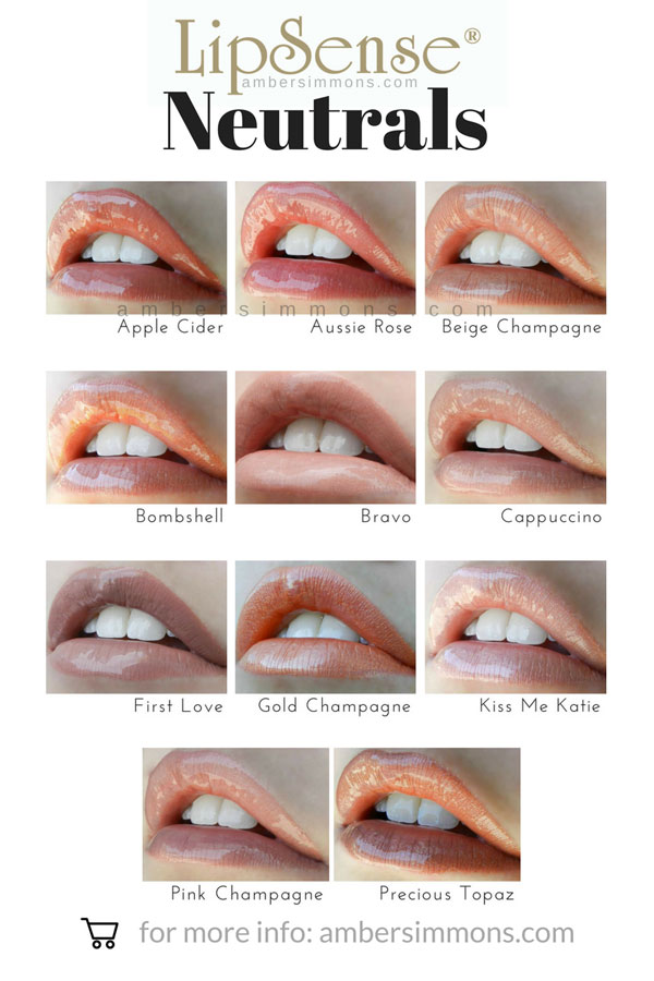 Neutrals Colors lipsense color and gloss chart