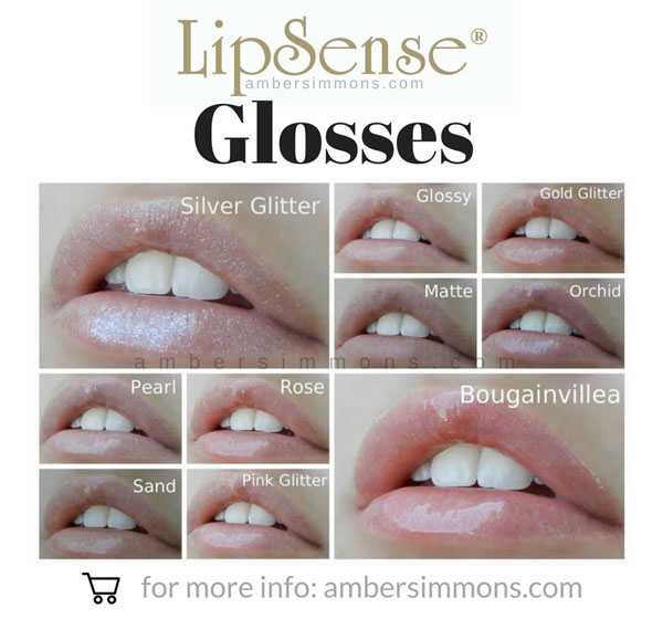 LipSense Gloss Chart | ambersimmons.com Do you see your new favorite gloss? Click on over to ambersimmons.com and find out how you can order it today!