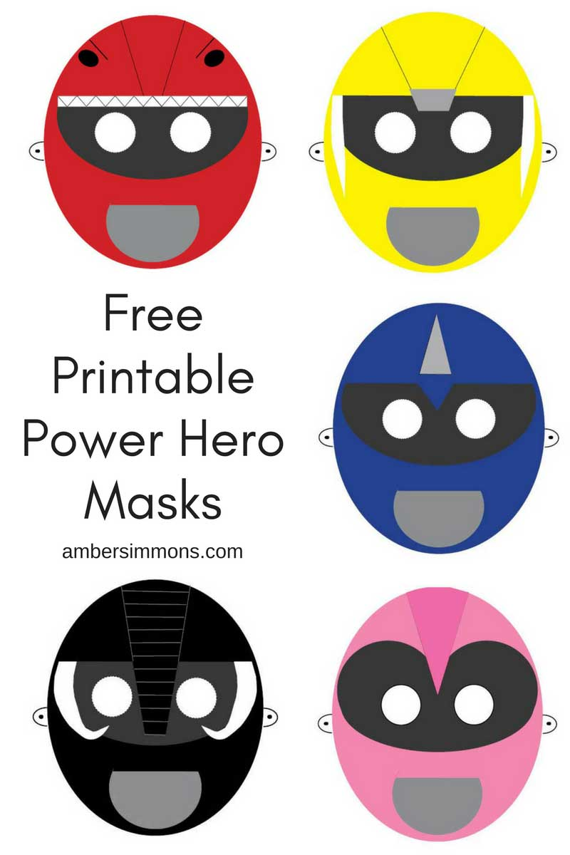 image relating to Free Printable Masks referred to as Totally free Electric power Ranger Hero Printable Masks - Amber Simmons