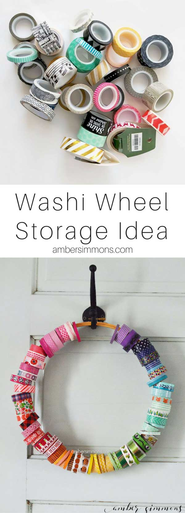 washi tape storage | craft organization | craft room | craft storage | planner supplies