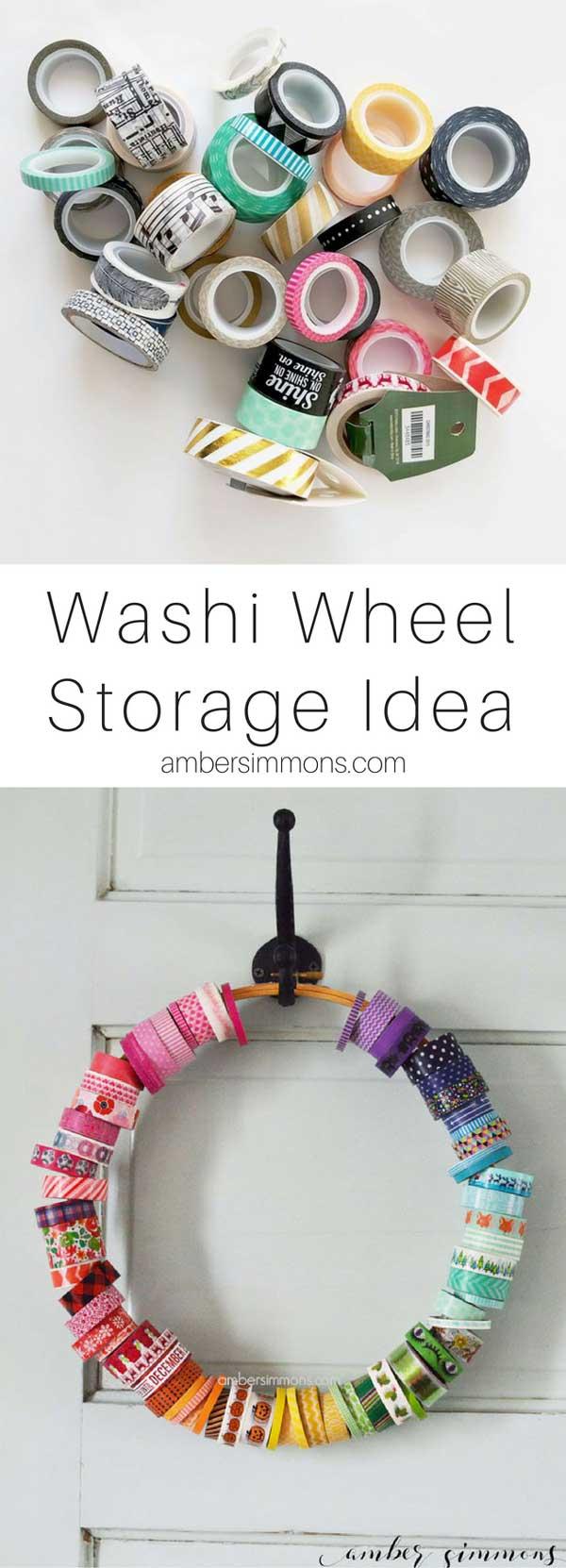 washi tape storage   craft organization   craft room   craft storage   planner supplies