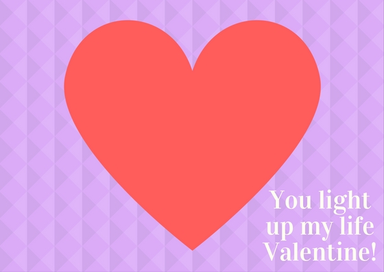 You light up my life Valentine!   AmberSimmons.com   Free printable for Valentine's Day.