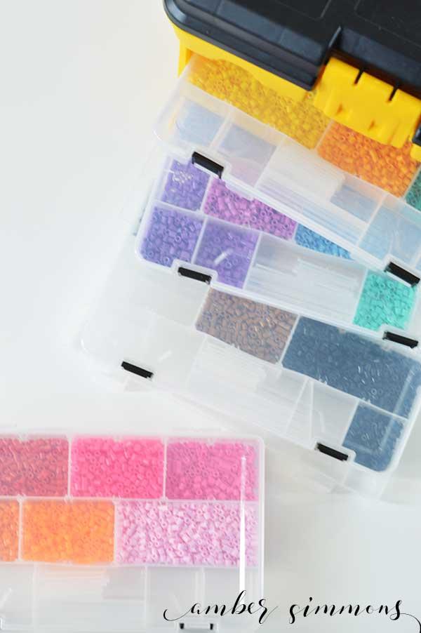 Perler Bead Storage Solution   Craft Organization   Kids Crafts
