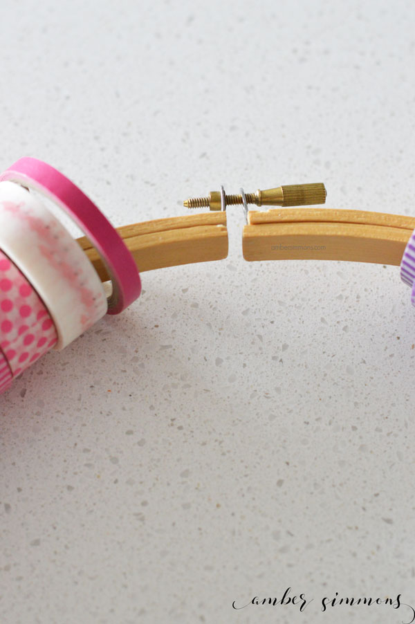 The Simple DIY Washi Wheel is the easiest way to organize and store your washi tape so that you can see all the pretty patterns. | ambersimmons.com