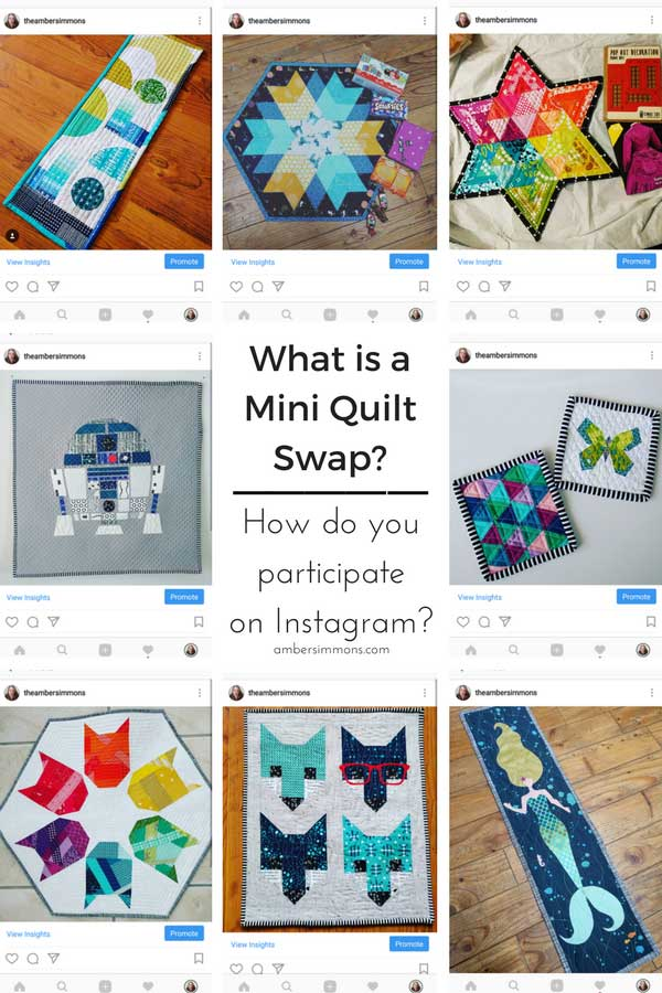 What is a Mini Quilt Swap? And how to participate on Instagram. | ambersimmons.com | mini swap | small quilts | wall hangings | gift exchange | pen pals | random sewing projects
