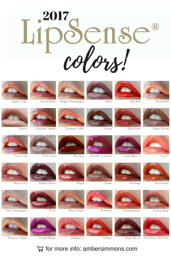 New 2017 LipSense Color Chart