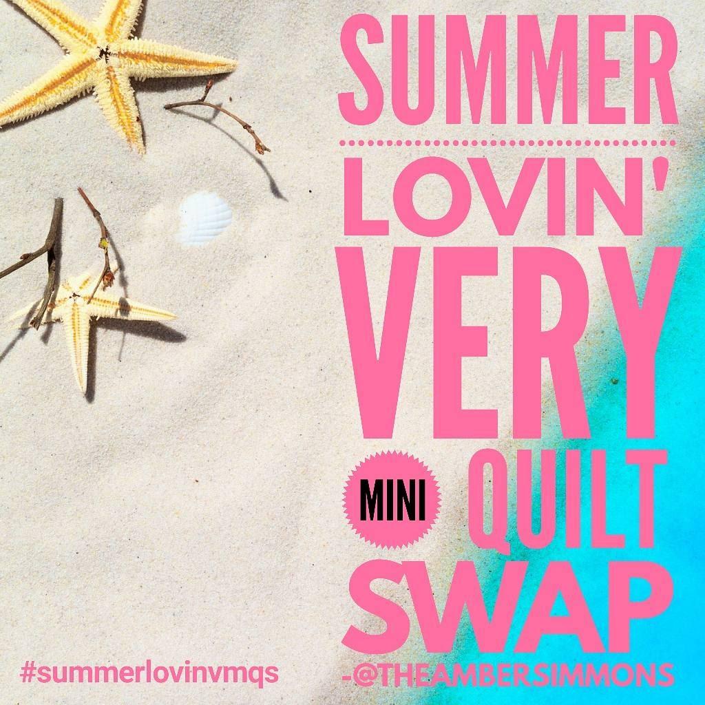 Summer Lovin' Very Mini Quilt Swap hosted on Instagram