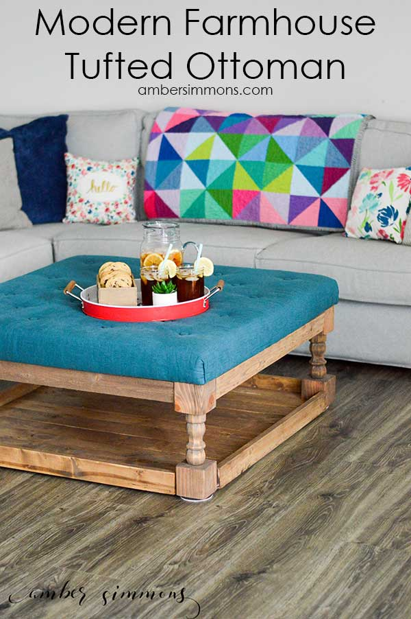 Modern Farmhouse Tufted Ottoman DIY