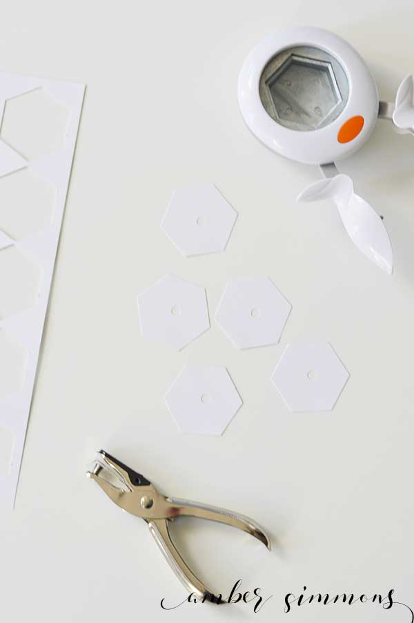 DIY Paper Hexie Templates | English Paper Piecing | 1 inch hexies | Fabric hexagons