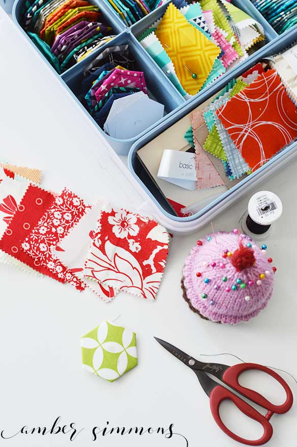 English Paper Piecing Hexie Tutorial   Fabric hexies   DIY   Handmade   epp