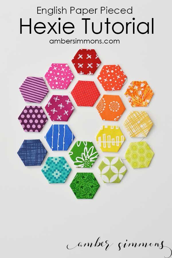 English Paper Piecing Hexie Tutorial | Fabric hexies | DIY | Handmade | epp