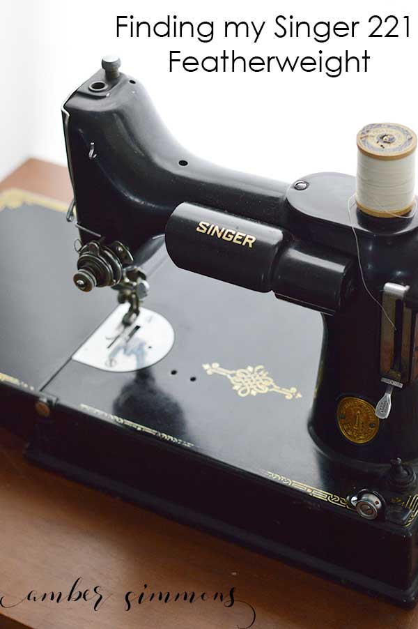 The story of how I found my 1937 vintage Singer 221 Featherweight sewing machine. | black singer sewing machine | antique