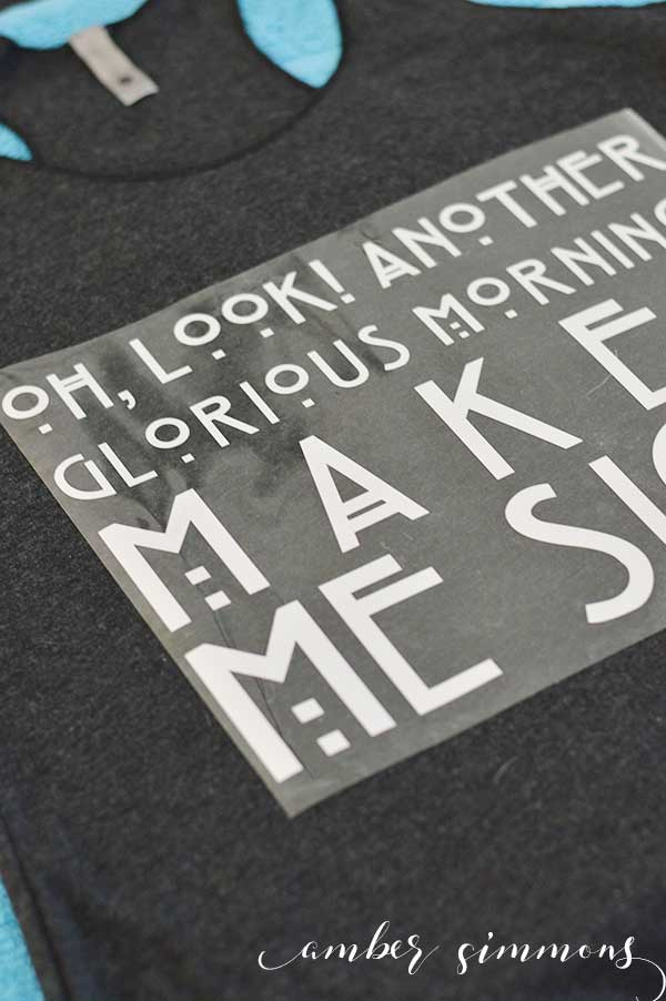 The Cricut Easy Press makes adhering iron-on material a breeze, especially with this DIY Hocus Pocus Quote shirt.