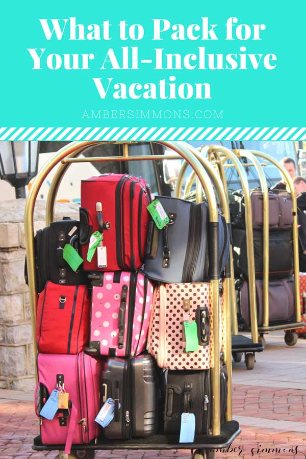 These tips and tricks for what to pack for your all inclusive vacation will make is so you don't forget a thing on your trip to paradise.  #allinclusive #packinglist
