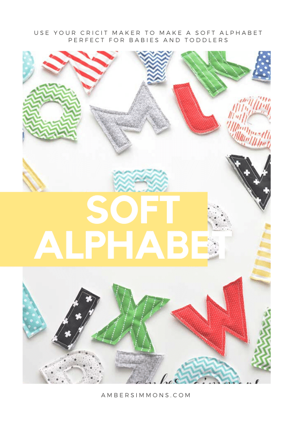 Have the cutest handmade gift at the party with this soft alphabet using the Cricut Maker