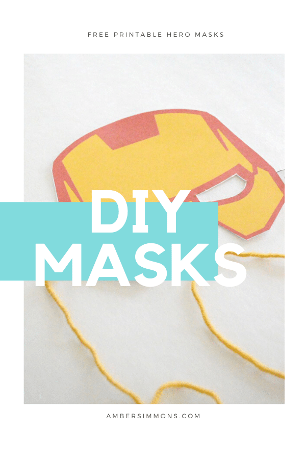 Choose from 6 different designs with these free printable hero masks.