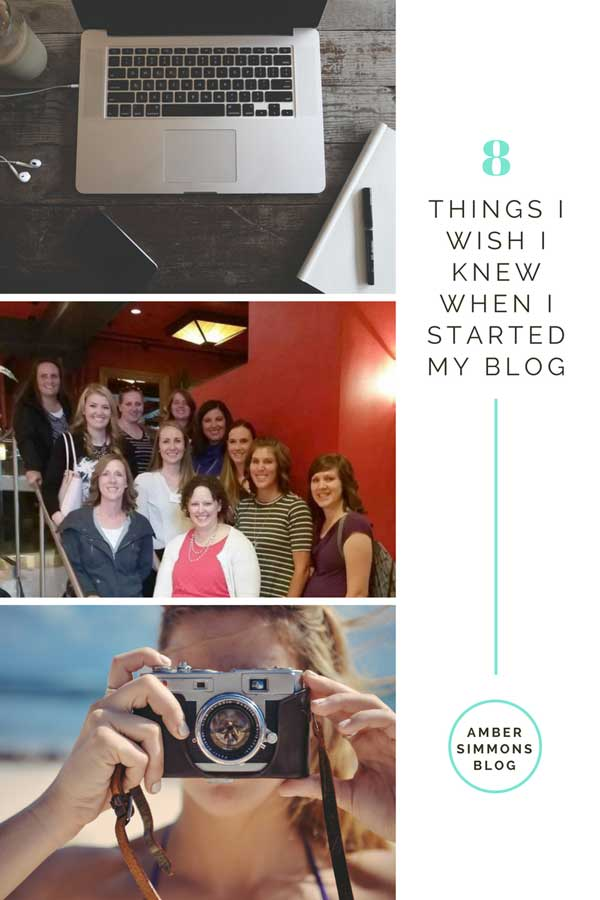 Eight things I wish I knew when I started my blog. | ambersimmons.com | tips for new bloggers