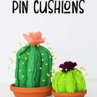 DIY Cactus Pin Cushion {with Cricut Maker Pattern!}