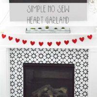 Simple No-Sew Felt Heart Garland