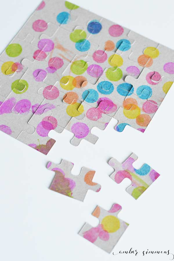 Create custom puzzles using the Cricut machine. Turn your child's art into a fun puzzle.