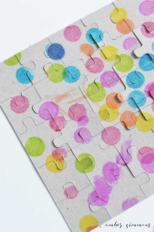 Create custom puzzles using the Cricut machine. Turn your child's art into a fun puzzle.