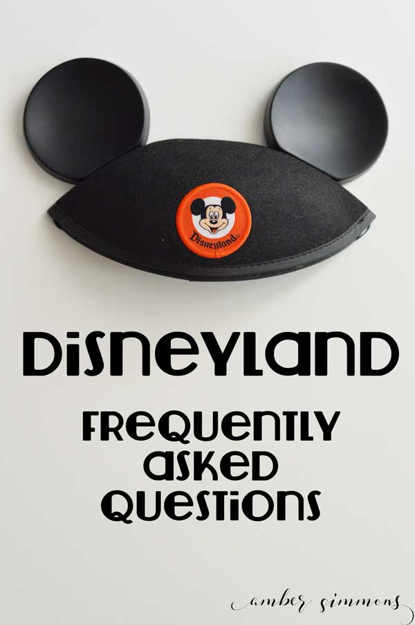 Find the answers to all your Disneyland Resort FAQ's and more! #disney #disneyland #vacationtips
