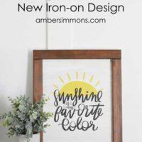 Handmade Farmhouse Style Sign with Cricut's NEW Iron-on Designs