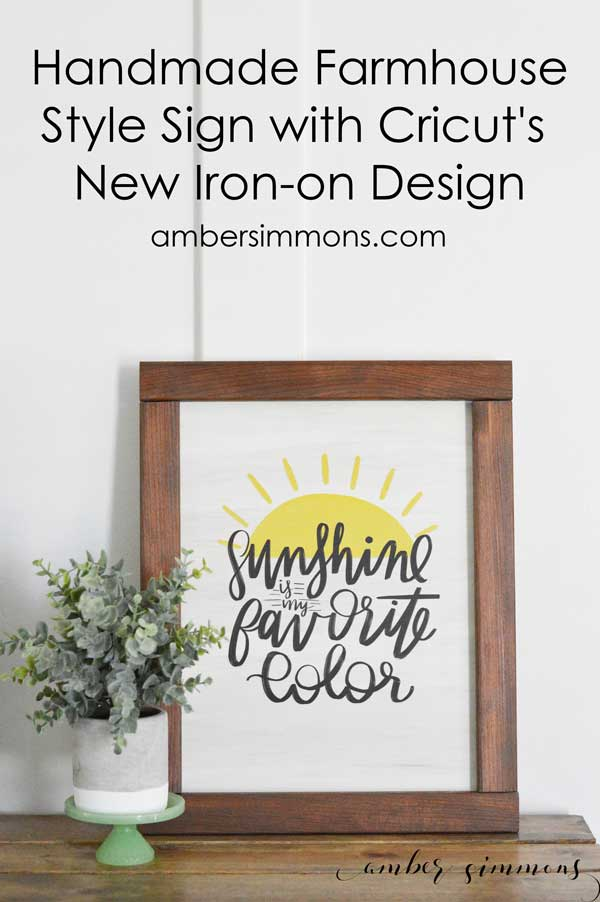 Handmade Farmhouse Style Sign with Cricut's NEW Iron-on Designs
