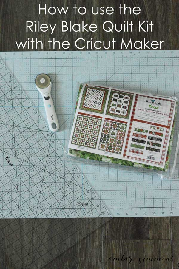 Check out this tips for how to find quilt patterns in Cricut Design Space and how to use the Riley Blake Quilt Kit with the Cricut Maker. #quilt #quiltpattern #circut #cricutmade #ad #MyCricutQuilt #RileyBlakeDesigns