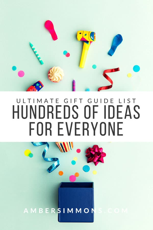 The Ultimate List of Gift Guides with Hundreds of Ideas. Find something for everyone on your list. #presentideas #holidaygifts