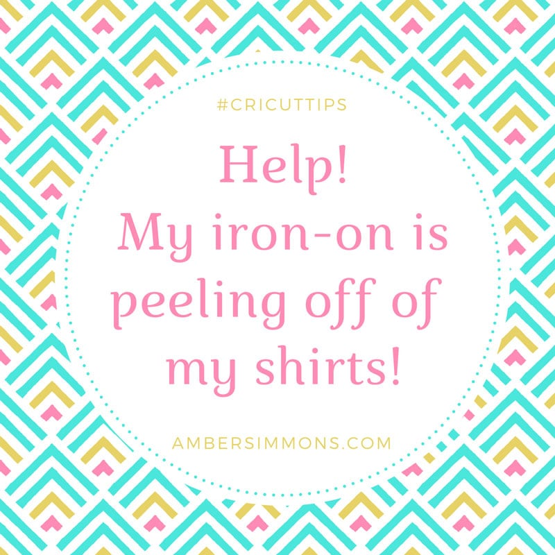 Help! My Iron-on is Peeling From My Shirts