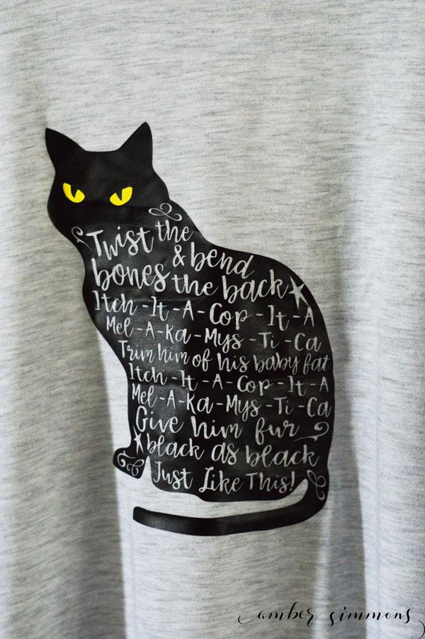 Hocus Pocus Inspired Thackery Binx Shirt Tutorial