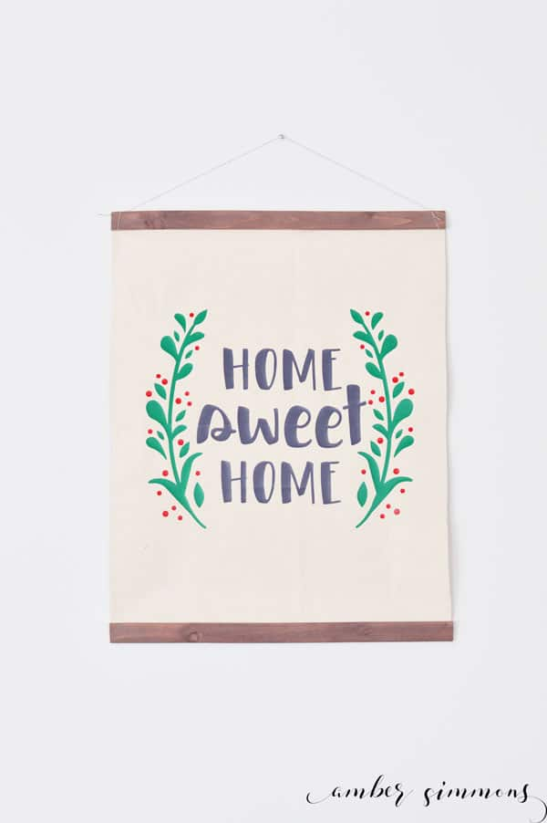 Farmhouse Hanging Canvas with Cricut EasyPress2