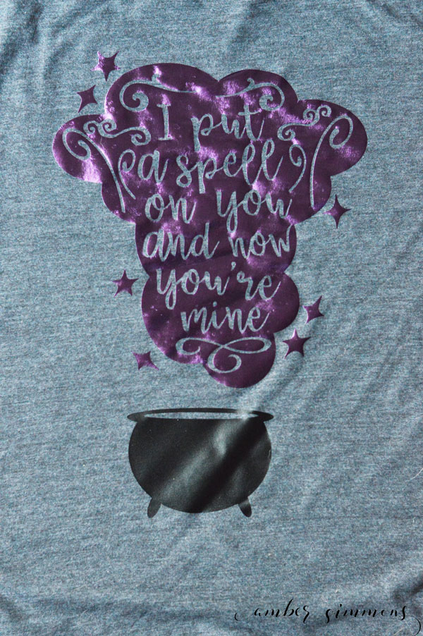 These Hocus Pocus inspired Cricut iron-on shirts will put a spell on your whole family. #ad #cricutmade #cricut