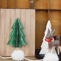 DIY 3D Tree Pallet Sign Holiday Decoration